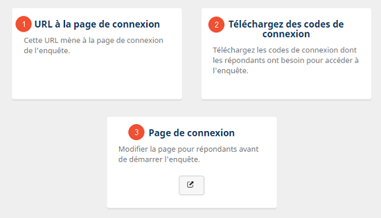Options dans la page ``Distribuer`` avec le canal de distribution ``Sur papier - panel``