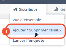 Ajouter/supprimer canaux